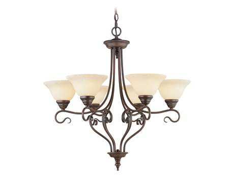 Livex Lighting Coronado Imperial Bronze Six-Light 28'' Wide Chandelier LV612658