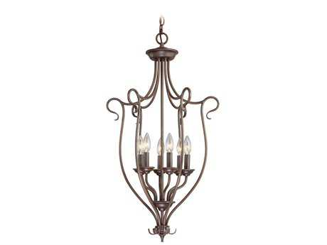 Livex Lighting Coronado Imperial Bronze Six-Light 11'' Wide Chandelier LV612858