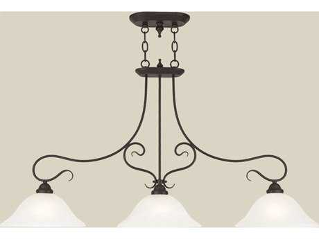 Livex Lighting Coronado Bronze Three-Light 13'' Wide Island Light