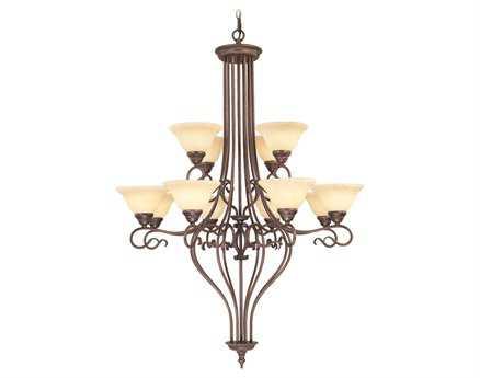 Livex Lighting Coronado Imperial Bronze 12-Light 36'' Wide Grand Chandelier LV613858