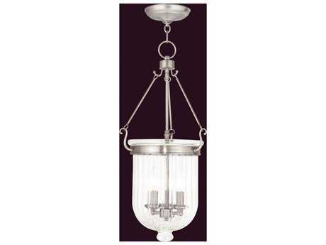 Livex Lighting Coventry Brushed Nickel Three-Light 12'' Wide Pendant Light