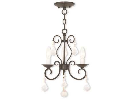 Livex Lighting Donatella English Bronze Three-Light 12'' Wide Chandelier LV5076392