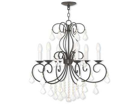 Livex Lighting Donatella English Bronze Six-Light 25.25'' Wide Grand Chandelier LV5076692