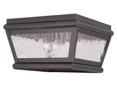Livex Lighting Exeter Bronze Two-Light Outdoor Ceiling Light LV261107