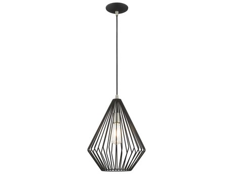 Livex Lighting Geometric Shade Mini Pendants Black 11'' Wide LV4132504