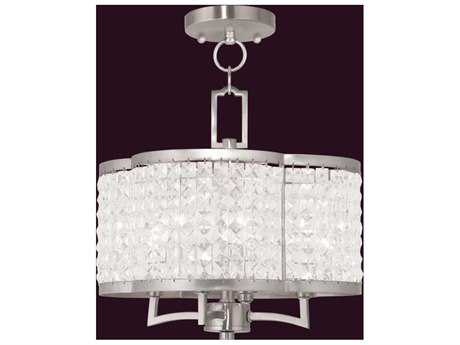 Livex Lighting Grammercy Brushed Nickel Four-Light 14'' Wide Chandelier LV5057491