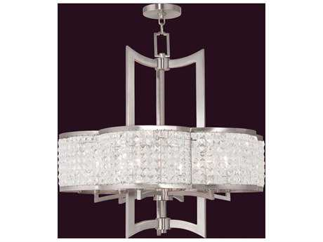 Livex Lighting Grammercy Brushed Nickel Six-Light 26'' Wide Grand Chandelier LV5057691