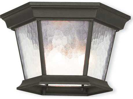 Livex Lighting Hamilton Textured Black Three-Light Outdoor Light LV7547014