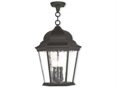 Livex Lighting Hamilton Textured Black Three-Light Outdoor Ceiling Light LV7547514