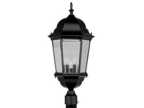 Livex Lighting Hamilton Black Three-Light Outdoor Post Light
