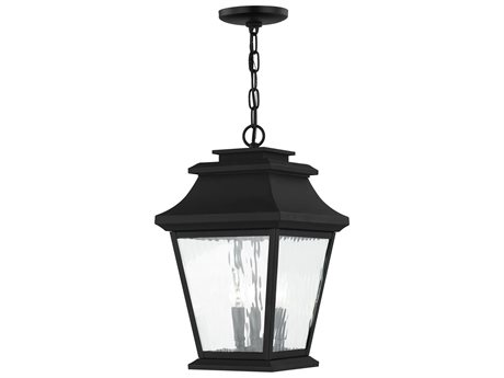 Livex Lighting Hathaway Black Three-Light Outdoor Ceiling Light LV2023704