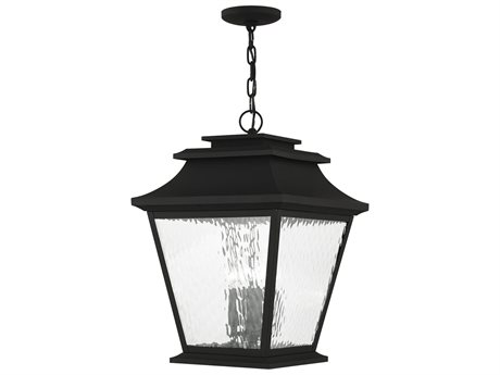 Livex Lighting Hathaway Black Four-Light Outdoor Ceiling Light LV2024304