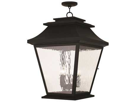 Livex Lighting Hathaway Black Five-Light Outdoor Ceiling Light LV2024704