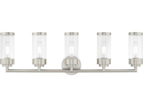 Livex Lighting Hillcrest Brushed Nickel Glass Vanity Light LV1036591