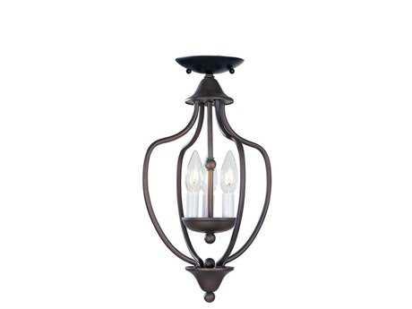 Livex Lighting Home Basics Bronze Three-Light 10'' Wide Pendant Light LV417007
