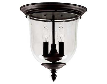 Livex Lighting Legacy Bronze Three-Light 11.5'' Wide Flush Mount Light LV502107