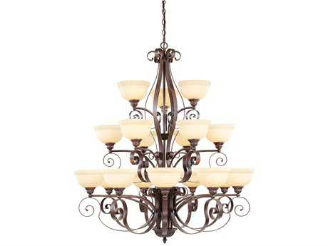 Livex Lighting Manchester Imperial Bronze 18-Light 44'' Wide Grand Chandelier