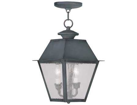 Livex Lighting Mansfield Charcoal Two-Light Outdoor Hanging LV216761
