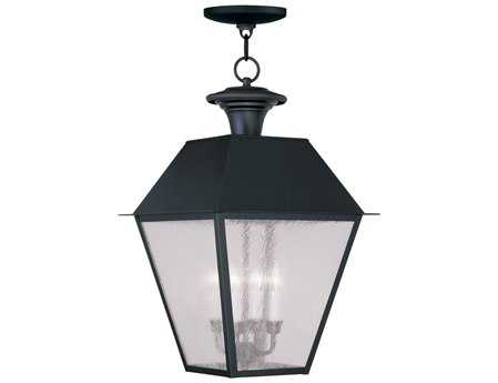 Livex Lighting Mansfield Black Four-Light Outdoor Hanging LV217404