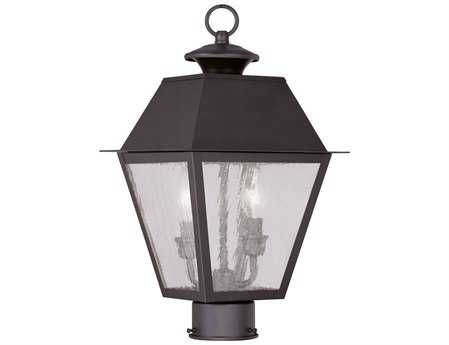 Livex Lighting Mansfield Bronze Two-Light Outdoor Post Light LV216607