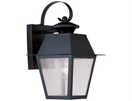 Livex Lighting Mansfield Black Outdoor Wall Light LV216204