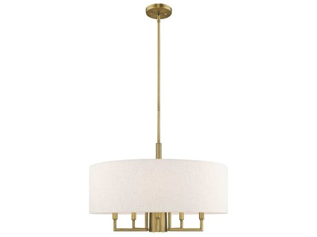 Livex Lighting Meridian Antique Brass 24'' Wide Medium Chandelier