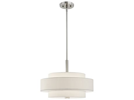Livex Lighting Meridian Brushed Nickel Four-Light 18'' Wide Pendant Light