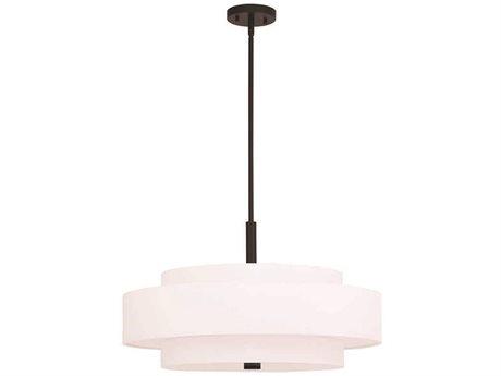 Livex Lighting Meridian Bronze Five-Light 24'' Wide Pendant Light LV5087507