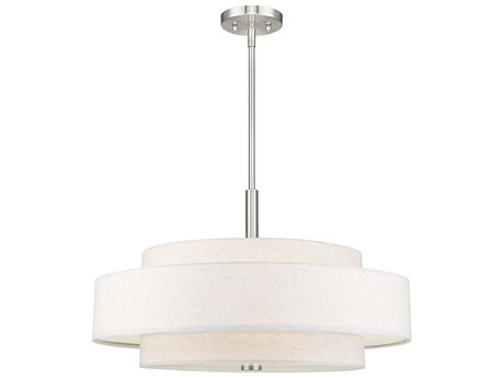 Livex Lighting Meridian Brushed Nickel Five-Light 24'' Wide Pendant Light