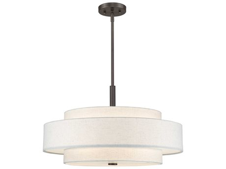 Livex Lighting Meridian English Bronze Five-Light 24'' Wide Pendant Light LV5213892