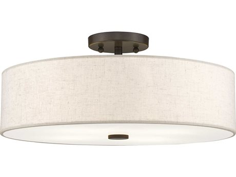 Livex Lighting Meridian English Bronze Four-Light 18'' Wide Semi-Flush Mount Light LV5213692