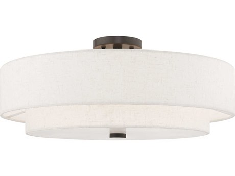 Livex Lighting Meridian English Bronze 22'' Wide Semi-Flush Mount