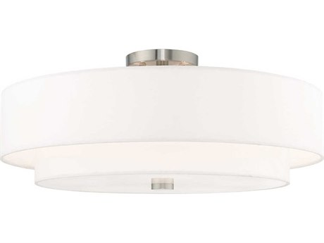 Livex Lighting Meridian Brushed Nickel 22'' Wide Semi-Flush Mount LV5214091