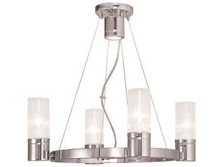 Livex Lighting Midtown Polished Chrome Four-Light 20'' Wide Chandelier