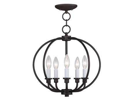 Livex Lighting Milania Bronze Five-Light 16'' Wide Pendant Light LV466507
