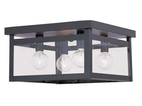Livex Lighting Milford Bronze Four-Light 11'' Wide Flush Mount Light LV403207