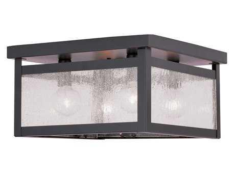 Livex Lighting Milford Bronze Four-Light 11'' Wide Flush Mount Light LV405207