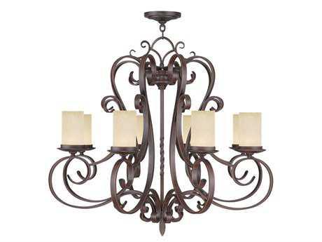 Livex Lighting Millburn Manor Imperial Bronze Eight-Light 35'' Wide Chandelier LV548858