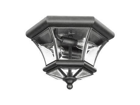 Livex Lighting Monterey Black Two-Light Flush Mount Light LV705204