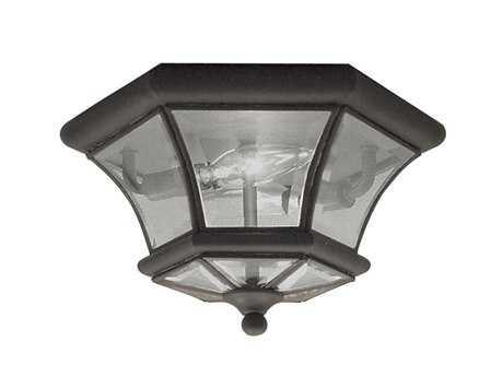 Livex Lighting Monterey Bronze Two-Light Flush Mount Light LV705207