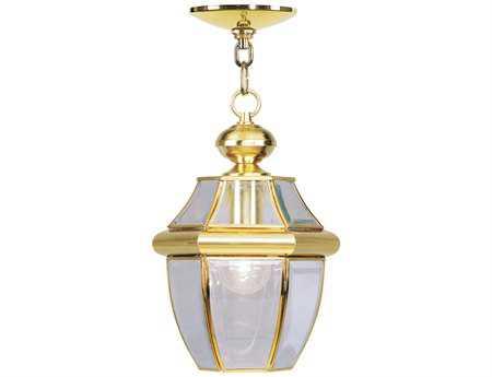Livex Lighting Monterey Polished Brass Outdoor Hanging