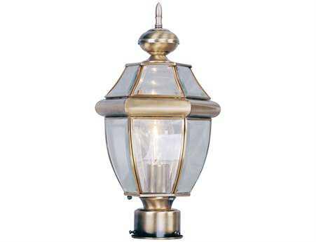Livex Lighting Monterey Antique Brass Outdoor Post Light