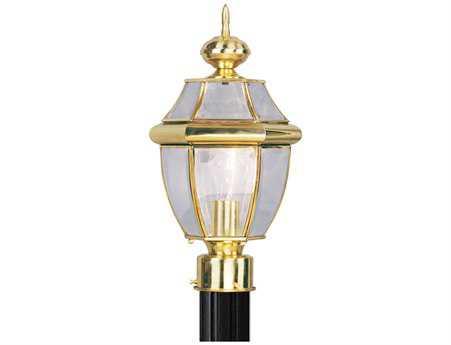 Livex Lighting Monterey Polished Brass Outdoor Post Light
