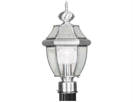 Livex Lighting Monterey Brushed Nickel Outdoor Post Light LV215391