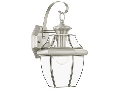 Livex Lighting Monterey Brushed Nickel Outdoor Wall Light LV215191