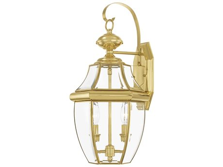 Livex Lighting Monterey Polished Brass Two-Light Outdoor Wall Light LV225102
