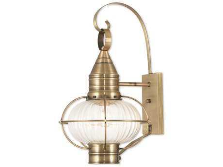 Livex Lighting Newburyport Antique Brass Outdoor Wall Light LV2700401