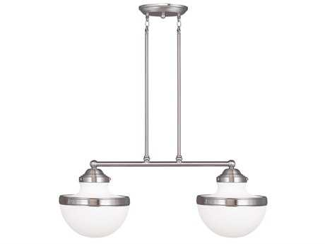 Livex Lighting Oldwick Brushed Nickel Two-Light 10.25'' Wide Island Light