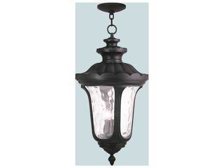 Livex Lighting Oxford Black Four-Light Outdoor Ceiling Light LV7870304