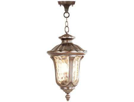 Livex Lighting Oxford Moroccan Gold Three-Light Outdoor Hanging LV765850